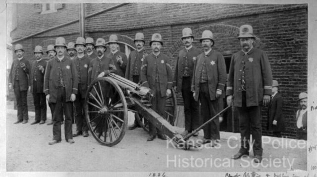 Chief Speers _ men with Gatling gun-
